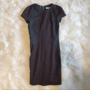Rebecca Taylor fitted office dress cap sleeve